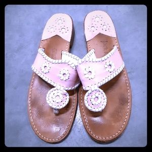 Jack Rogers Women's Pink Sandals Size 8